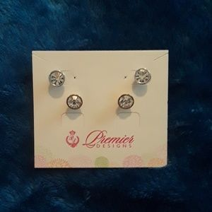 Gold and silver Premier studs